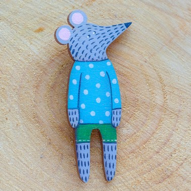 Dots Jumper Mouse brooch