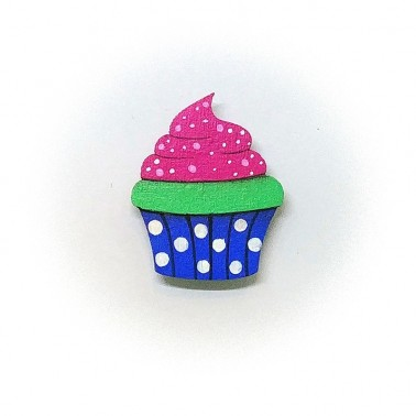 Blue Cupcake brooch