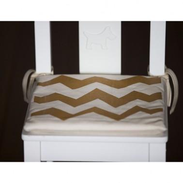 Brown Zigzag child's chair cushion