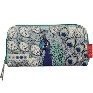 Colour Me Peacock wallet