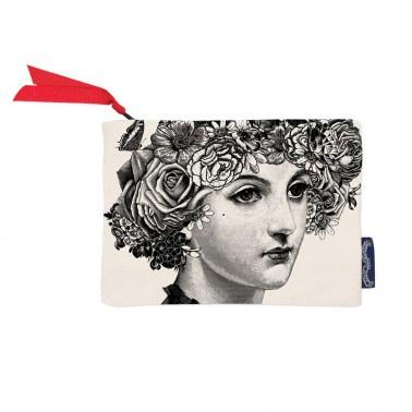 Flower Lady wallet/cosmetic bag