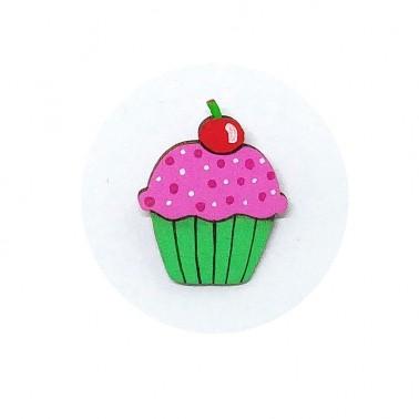 Green Cupcake brooch