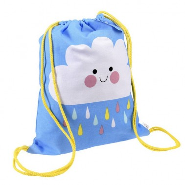 Happy Cloud drawstring backpack