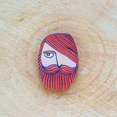 Oval Hipster brooch