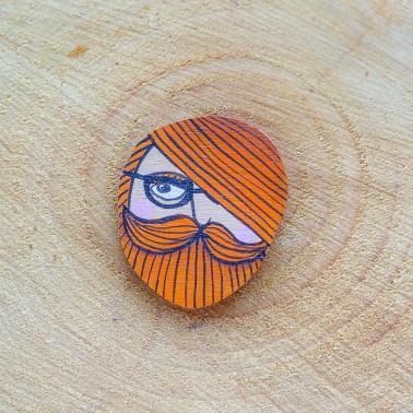 Round Hipster brooch