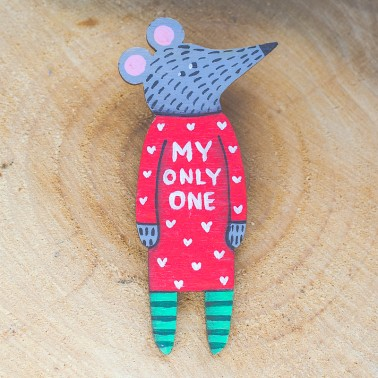 My Only One Mouse brooch