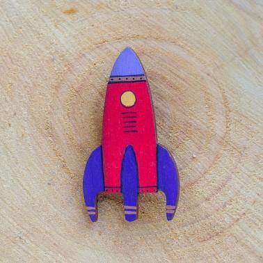 Red Rocket brooch