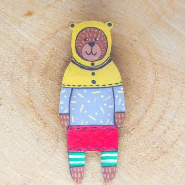 Red Skirt Bear brooch