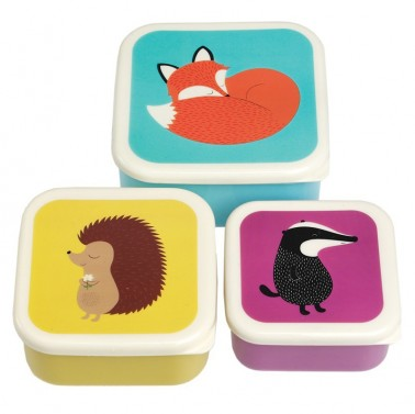 Rusty Fox and Friends set of 3 lunch boxes