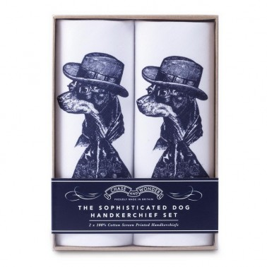 Sophisticated Dog handkerchief set