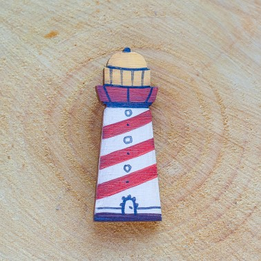 Wide Lighthouse brooch