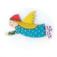 Blue Dress Angel brooch