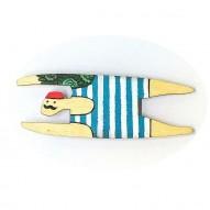 Blue Swimmer brooch
