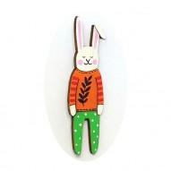 Branch Jumper Rabbit brooch