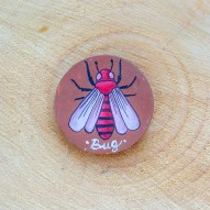 Round Bug brooch
