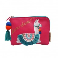 Candy Pop Llama Drama wallet/cosmetic bag