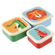 Colourful Creatures set of 3 lunch boxes