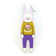 Cupcake Jumper Rabbit brooch