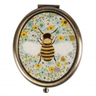 Floral Bee compact mirror