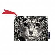 Flower Cat wallet/cosmetic bag