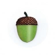 Green Acorn brooch