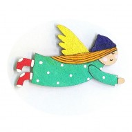 Green Dress Angel brooch