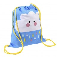 Happy Cloud drawstring backpack