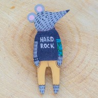 Hard Rock Mouse brooch
