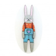 Jeans Overall Rabbit brooch