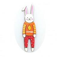 Lemon Jumper Rabbit brooch