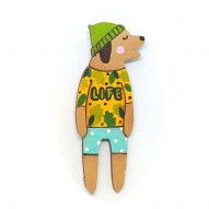 Life T-shirt Doggy brooch