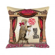 Mad cat small cushion