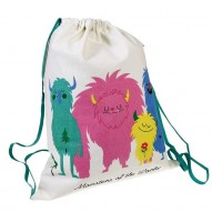 Monsters of the World drawstring backpack