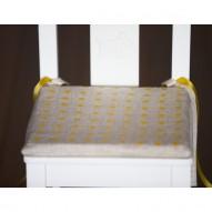 Orange Dots child's chair cushion