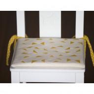 Orange Triangles child's chair cushion