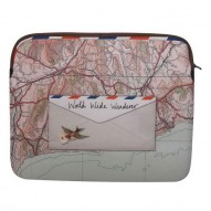 Paper Plane map laptop sleeve