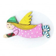 Pink Dress Angel brooch
