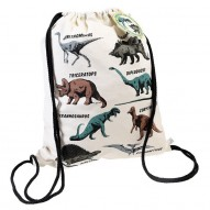 Prehistoric Land drawstring backpack