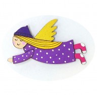 Purple Dress Pink Socks Angel brooch