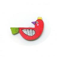Red Birdie brooch