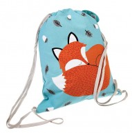 Rusty the Fox drawstring backpack