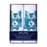 Sophisticated Cat handkerchief set
