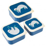 Sydney the Sloth set of 3 lunch boxes
