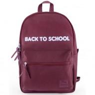UNI Burgundy school backpack