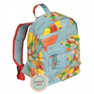 World Map mini backpack