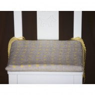Yellow Dots child's chair cushion