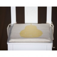 Yellow Pear child's chair cushion