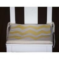 Yellow Zigzag child's chair cushion