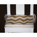 Brown Zigzag child's chair cushion