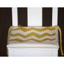 Orange Zigzag child's chair cushion